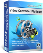 4Videosoft Video Converter Platinum Sale Voucher