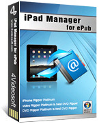 4Videosoft iPad Manager for ePub Voucher - Click to View