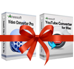 Aneesoft Video Converter Pro and YouTube Converter Bundle for Mac Voucher Sale