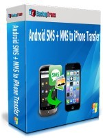 BackupTrans, Backuptrans Android SMS + MMS to iPhone Transfer (Business Edition) Voucher Sale