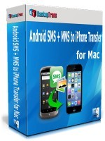 Backuptrans Android SMS + MMS to iPhone Transfer for Mac (Personal Edition) Voucher - Special