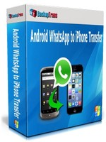 Backuptrans Android WhatsApp to iPhone Transfer (Personal Edition) Voucher - Exclusive