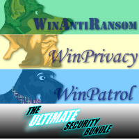 Special 15% Ultimate Bundle, 5 User License for WinAntiRansom, WinPatrol and WinPrivacy w/ Annual Renewal Voucher Code