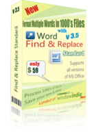 Word Find and Replace Standard Voucher Code